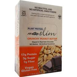 Nugo Nutrition Slim Vegan Bar Crunchy Peanut Butter 12 bars