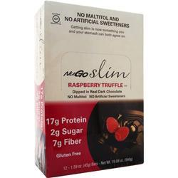 Nugo Nutrition Slim Bar Raspberry Truffle BEST BY 9/15/19 12 bars