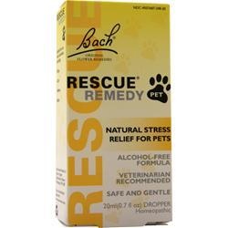 Bach Flower Remedies Rescue Remedy Pet - Natural Stress Relief For Pets 20 mL