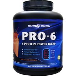 BodyStrong Pro-6 Protein Power Blend Milk Chocolate 5 lbs