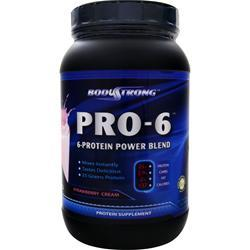 BodyStrong Pro-6 Protein Power Blend Strawberry Cream 2 lbs