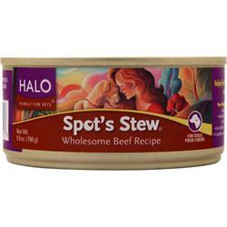 Halo Spot's Stew for Dogs Wholesome Beef Recipe 5.5 oz