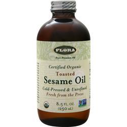 Flora Organic Toasted Sesame Oil - Cold Pressed & Unrefined 8.5 fl.oz