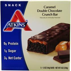 Atkins Advantage Caramel Bar Double Chocolate Crunch 5 bar