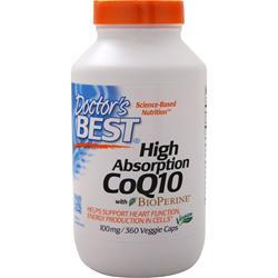 Doctor's Best High Absorption CoQ10 w/ Bioperine (100mg) 360 vcaps