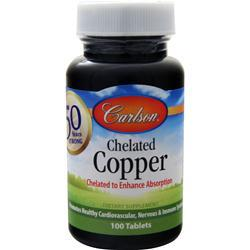 Carlson Chelated Copper (5mg) 100 tabs