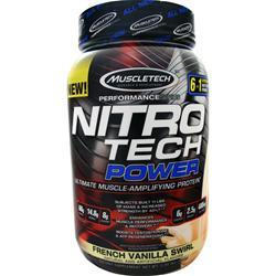 Muscletech Nitro Tech Power - Performance Series French Vanilla Swirl 2 lbs