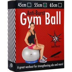 J-Fit Anti-Burst Gym Ball with Pump 55cm - Silver 1 ball