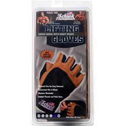 Schiek Sports Lifting Gloves Power Series with Wrist Wraps Large 2 glove