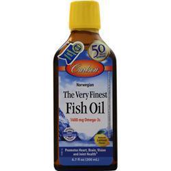 Carlson The Very Finest Fish Oil Liquid Lemon 200 mL