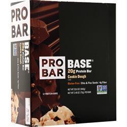 Pro Bar Base Bar Cookie Dough 12 bars