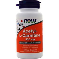 Now Acetyl-L Carnitine (500mg) 50 caps
