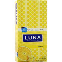 Clif Bar Luna Bar Lemonzest 15 bars