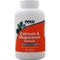 Now Calcium & Magnesium 240 sgels