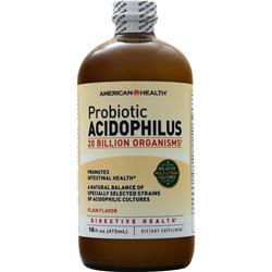 American Health Probiotic Acidophilus Liquid Plain 16 Floz