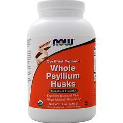 Now Whole Psyllium Husks - Certified Organic 12 oz