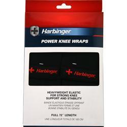 Harbinger Power Knee Wraps Black 2 wraps
