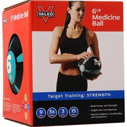 Valeo Medicine Ball 6 lbs 1 unit