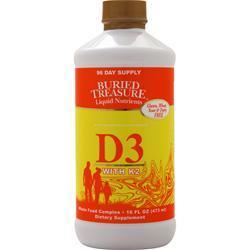 Buried Treasure Liquid D3 with K2 16 fl.oz