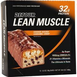 Forward Foods Detour Lean Muscle Bar CookieDough Caramel Crisp 12 bar