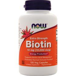 Now Biotin (10mg) Extra Strength 120 vcaps