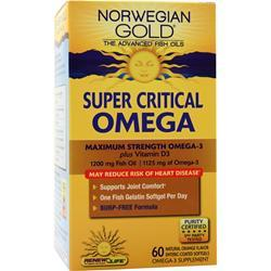 Renew Life Norwegian Gold Ultimate Fish Oils Super Critical Omega Natural Orange 60 sgels