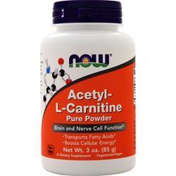 Now Acetyl-L Carnitine Powder 3 oz