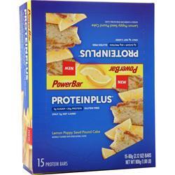 PowerBar Protein Plus Reduced Sugar Bar Lemon Poppy Seed Pound Cake 15 bars