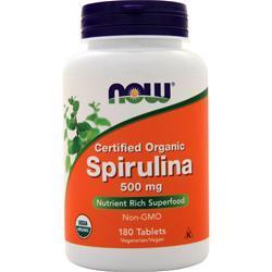 Now Spirulina Organic - 100% Pure 180 tabs