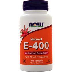 Now E-400 (Mixed Tocopherols) 100 sgels