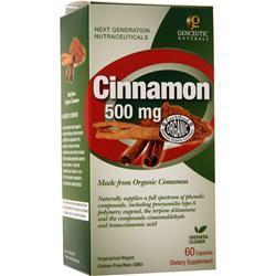 Genceutic Naturals Cinnamon (500mg) 60 caps