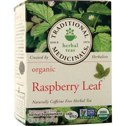 Traditional Medicinals Organic Herbal Tea Raspberry Leaf 16 pckts