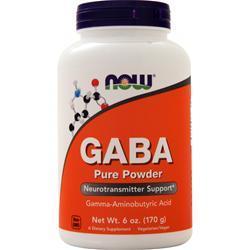 Now GABA 100% Pure Powder 6 oz