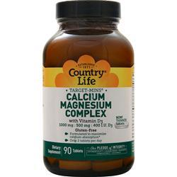 Country Life Target-Mins - Calcium-Magnesium with Vitamin D 90 tabs