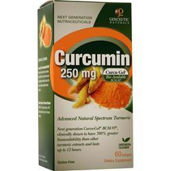 Genceutic Naturals Curcumin (250mg)  EXPIRES 1/20 60 sgels
