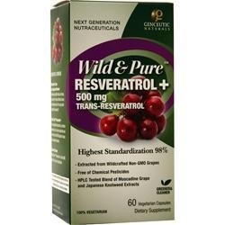 Genceutic Naturals Wild Pure Resveratrol 500mg On Sale At
