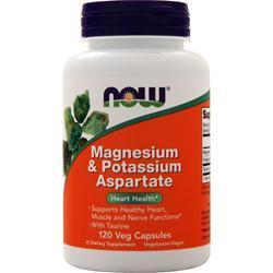 Now Magnesium & Potassium Aspartate 120 caps