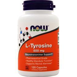 Now L-Tyrosine (500mg) 120 caps