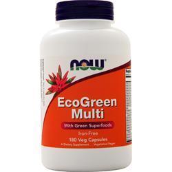 Now EcoGreen Multi - Iron Free 180 vcaps