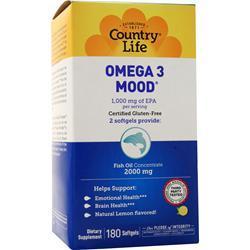 Country Life Omega 3 Mood 180 sgels