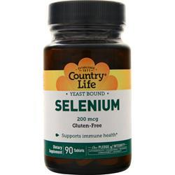 Country Life Selenium (200mcg) 90 tabs