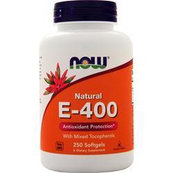 Now E-400 (Mixed Tocopherols) 250 sgels