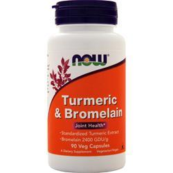 Now Turmeric and Bromelain 90 vcaps