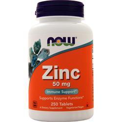 Now Zinc Gluconate (50mg) 250 tabs