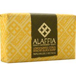 Alaffia Triple Milled African Black Soap Lemongrass Citrus 5 oz