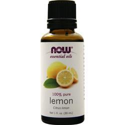Now Lemon Oil (100% Pure & Natural) Citrus Limon 1 oz