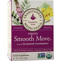 Traditional Medicinals Organic Herbal Tea Smooth Move 16 pckts