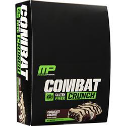 Muscle Pharm Combat Crunch Bar Chocolate Coconut EXPIRES 8/19 12 bars