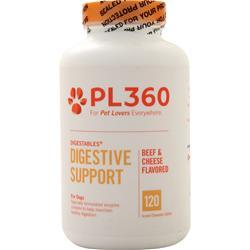 PL360 DigestAbles for Dogs Beef & Cheese Flavor 120 tabs