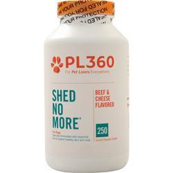 PL360 Shed No More for Dogs Beef & Cheese Flavor 250 tabs